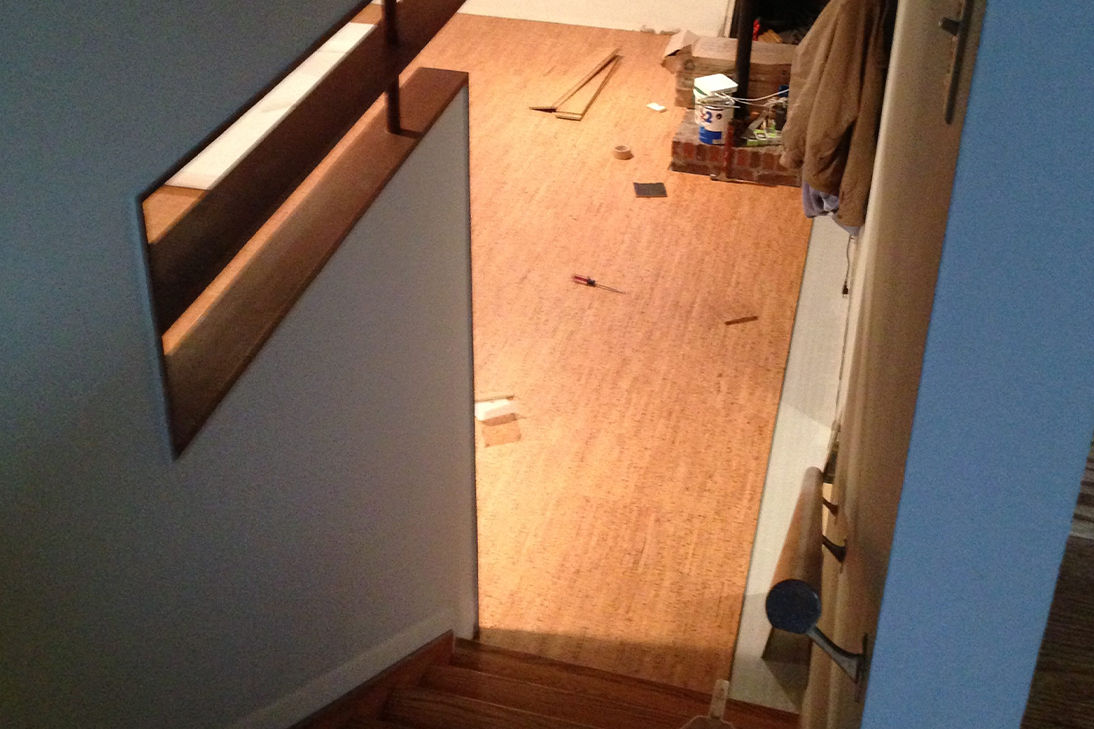 Den renovation: The floor and paint